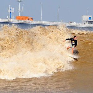 The World's First River Bore Surf Contest