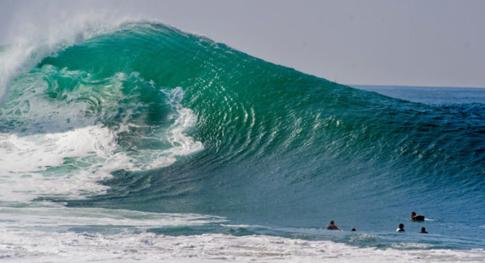 Newport Wedge Wakes Up as the West Coast is Finally Delivered Some Surf